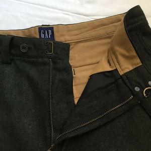Gap Dress Pants Brown Button Pocket Trousers Sz 33